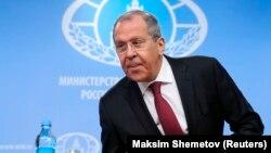 Глава МИД РФ Сергей Лавров, Москва, 16 января 2019 г.