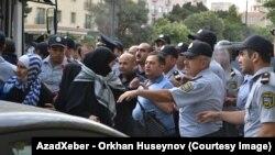 Акция протеста перед посольством Израиля в Баку, 25.07.2014