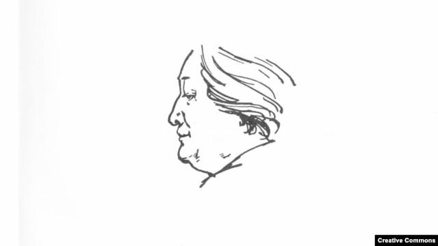 Анна Ахматова, портрет работы Сергея Голлербаха