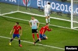 İspaniya-Türkiyə oyunundan görüntü, 17 iyun 2016
