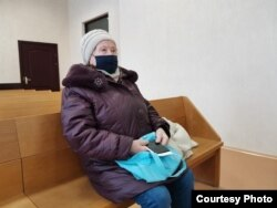 Валерыя Сьмірнова ў судзе. Фота «Белсат»