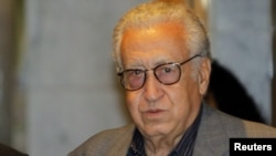 UN-Arab League peace envoy Lakhdar Brahimi in Damascus on October 19