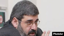 Giro Manoyan, the head of Armenia's Revolutionary Federation opposition party