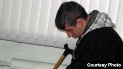 Иван Рожнов, потерпевший. Петропавловск, 18 октября 2012 года. Фото гражданского активиста Вадима Курамшина.