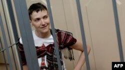 Надія Савченко під час судового засідання 26 березня