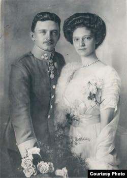 Последний император Австрийский и король Венгерский Карл I (IV) и его супруга Зита. Фото 1917 года