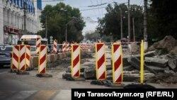 Ремонт улиц в Симферополе, иллюстрационное фото