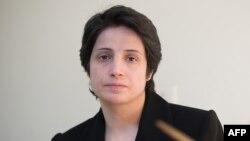 Ирандық құқық қорғаушы заңгер Насрин Сотуде. Тегеран, 1 қараша 2008 жыл.