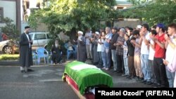 The funeral in Dushanbe of IRPT member Sattor Karimov, who was killed in the prison riot.