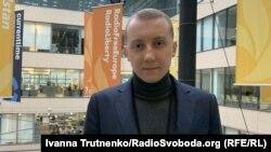 Станіслав Асєєв в офісі Радіо Свобода у Празі, 14 лютого 2020 року