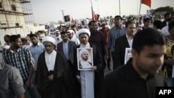 تظاهرات شیعیان بحرین در اعتراض به دستگیری شیخ علی سلمان