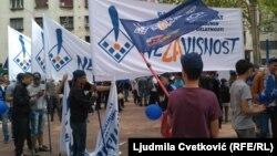 """Okupljeni došli na protest zato što im je """"dosta"""", pretpostavlja Stojiljković"""