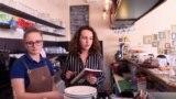Kosovo - Agnesa Geca, entrepreneur of a small business in Prishtina