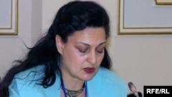 Маргарита Ассенова, Жаңа демократиялар институтының (IND) жетекшісі. Астана, 28 қазан 2009 жыл.