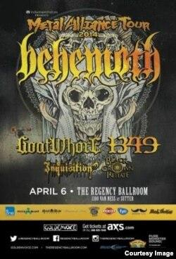 """Плакат американского турне """"Бегемота"""""""