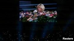 Lady Gaga Bakuwda Ýewropa oýunlarynyň açylyş dabarasynda çykyş edýär.