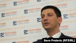 Lider Pozitivne Crne Gore Darko Pajović