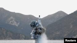 Архіўнае фота запуску ракеты КНДР