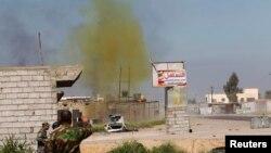 Ілюстраційне фото: іракські війська і союзне йому шиїтське ополчення підривають невибухлий снаряд із хлором у перебігу боїв проти сил «Ісламської держави», 10 березня 2015 року