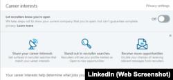 Linkedin дозволяє виставити преференції у пошуку роботи, що полегшить цей процес