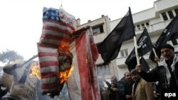 "The phrase 'Death to America"" is regularly chanted in Iran at state-organized events and rallies. (file photo)"