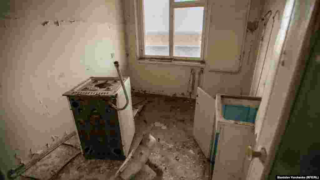 На кухне квартиры в городе Припять.