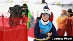 Казахстанская фристайлистка Жанбота Алдабергенова на 28-й Всемирной зимней Универсиаде. Алматы, 30 января 2017 года.