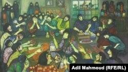 لوحة للفنان عبد الرزاق ياسر