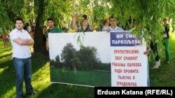 Protest Banjalučana zbog uništavanja parka