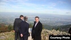 În cursul unei vizite în Parcul regional din Masivul central, pe muntele Pilat