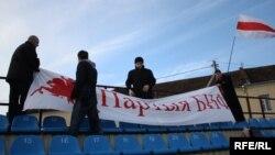 Мітынг партыі БНФ у Слуцку, архіўнае фота