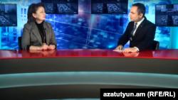 Рузанна Хачатрян в студии Азатутюн ТВ, Ереван, 1 ноября 2019 г.