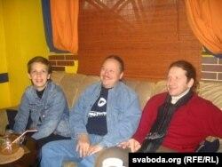 Натальля Каляда, Мікалай Халезін і Ўладзімер Шчэрбань. 2010 год