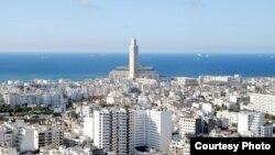 Pamje nga qyteti Kazablanka në Marok