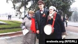 Удзельнікі мітынгу ў Віцебску