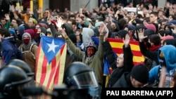 Митинг в поддержку независимости Каталонии, Барселона, 21 декабря 2018 года.