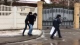 Kazakhstan - A police detained a civil activist Askhat Akhmedyarov in front of the Ukraine Embassy. Nur-Sultan, 5 December 2019