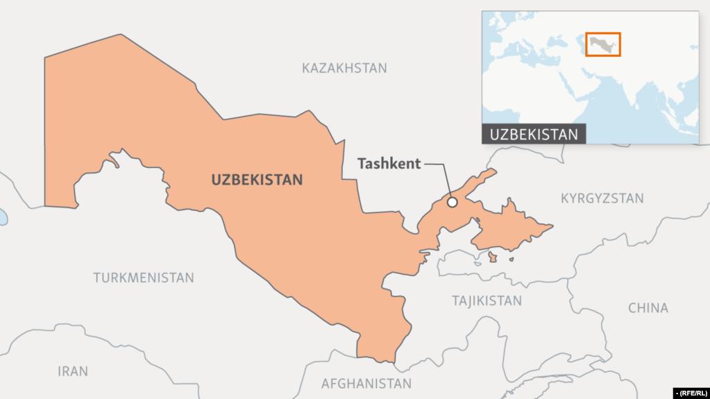UzbekKazakh Bus Service Resumes After Years - Uzbekistan map png