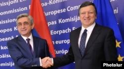 Президент Армении Серж Саргсян и председатель Еврокомиссии Жозе Мануэль Баррозу, Брюссель, 6 марта 2012 г.