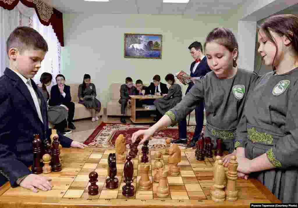 Тәнәфестә шахмат уены