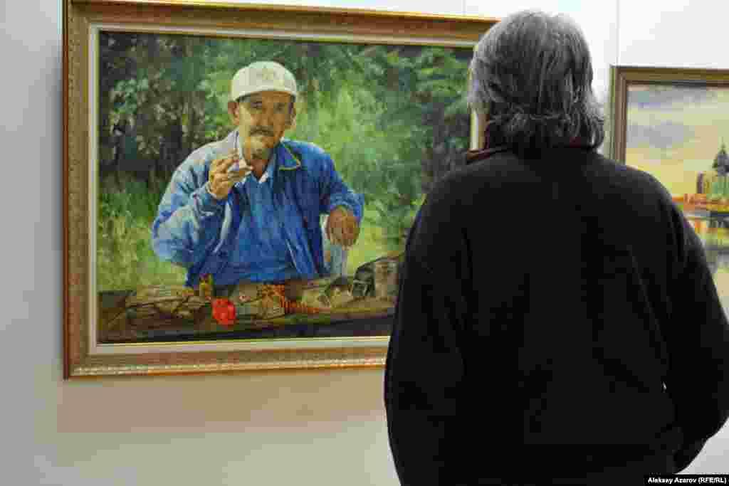 Абай атындағы ҚазҰПУ профессоры Тоққожа Қожағұловтың «Тоқтақын» портреті.