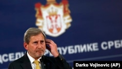 EU enlargement commissioner Johannes Hahn (file photo)
