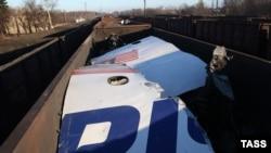 Обломки потерпевшего крушение под Донецком «Боинга» авиакомпании Malaysia Airlines