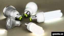 Лампочки, произведенные предприятиями «Узбекэнерго».