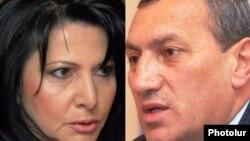 Armenia -- A combo photo of Silva Hambardzumin (L) and Surik Khachatrian.