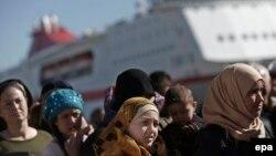 Migrantët, Athinë, mars 2016