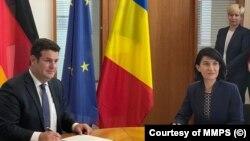 Miniștrii român și german ai Muncii: Violeta Alexandru și Hubertus Heil
