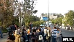 Протестную акцию арабов поддерживают левые израильские НПО, май 2010