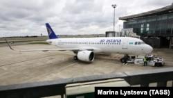 Air Astana компаниясының ұшағы. Көрнекі сурет.