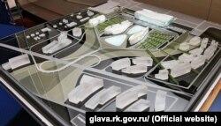 Фото объемного проекта нового аэровокзала Симферополя, представленного южно-корейской компанией